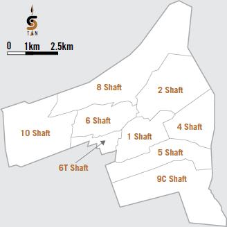 Driefontein shafts [map]