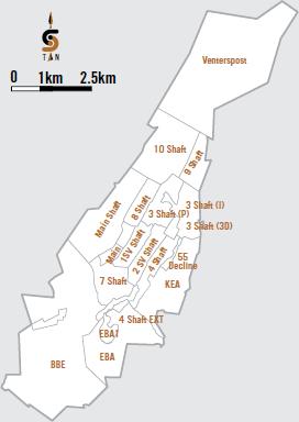 Kloof shafts [map]